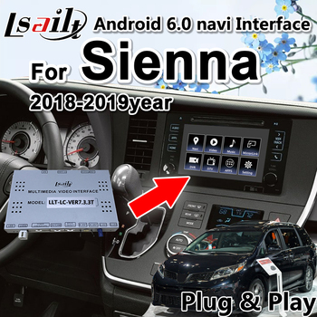 Lsailt Android video interface Navigation Box for Toyota Sienna 2018-19 TOUCH3 Panasonic Pioneer model support carpaly , app