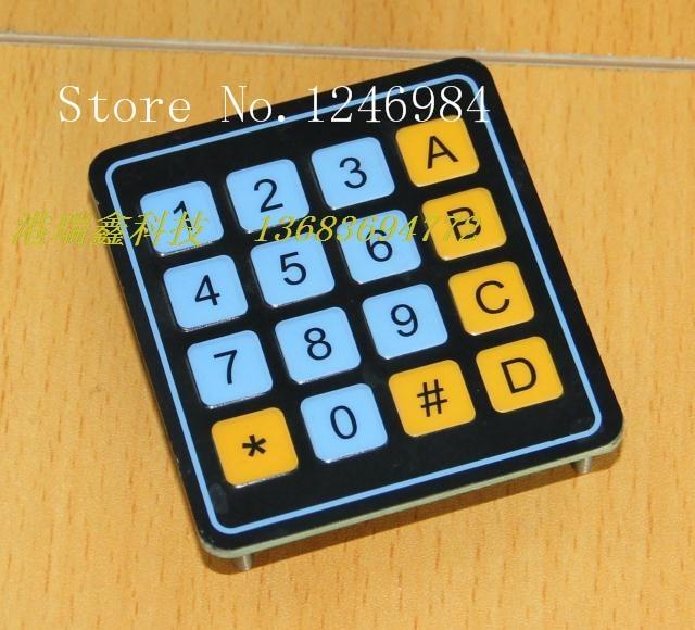 [SA]Electronic components Membrane Switch 4X4 membrane keypad 4 * 4 matrix keyboard numeric keypad 0-9 AD--20pcs/lot 19 key 2 4ghz wireless numeric keypad keyboard number pad