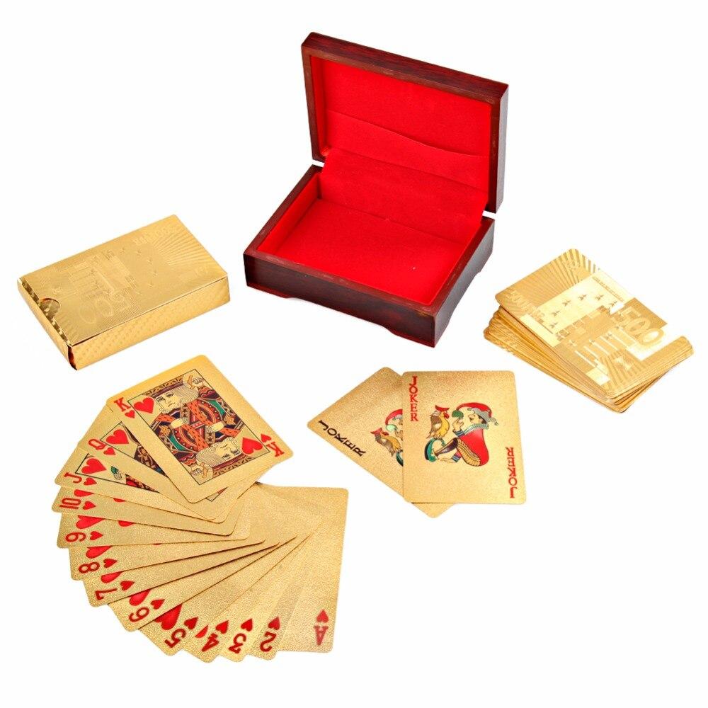 Loisirs Cartes À Jouer Texas Hold'em Poker Feuille D'or Plaqué Poker Carte Drôle de Haute qualité Sport Loisirs Jeu Pokerstars