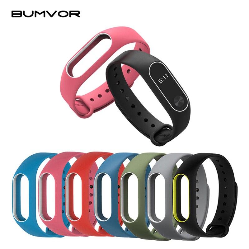 Colorful Donna Uomo Fitness Copertura Impermeabile Cinturino In Silicone A Due Colori Wrist Band Strap Per Xiaomi Mi Band 2 Smart Braccialetto