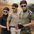 XongKoro Men Camouflage Short Sleeve Shirt Sports Tactical Shirts Male Combat Polo CS Gear