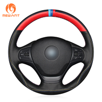 XuJi Holes Black Leather Red Leather Black Suede Blue Dark Blue Red Marker Car Steering Wheel