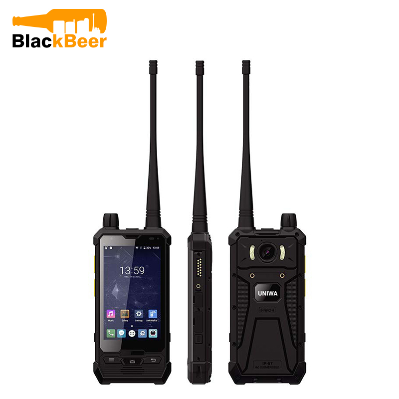 UNIWA P1 4 <font><b>Inch</b></font> 4G LTE Mobile Phone Glove Touch IP67 Waterproof POC Walkie Talkie 5W UHF/DMR 3+32GB Cellphone NFC <font><b>Smartphone</b></font> SOS image
