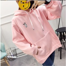 hooded rabbit ears mama winter casual  long sleeve hoodie pullovers womens female sweatshirts