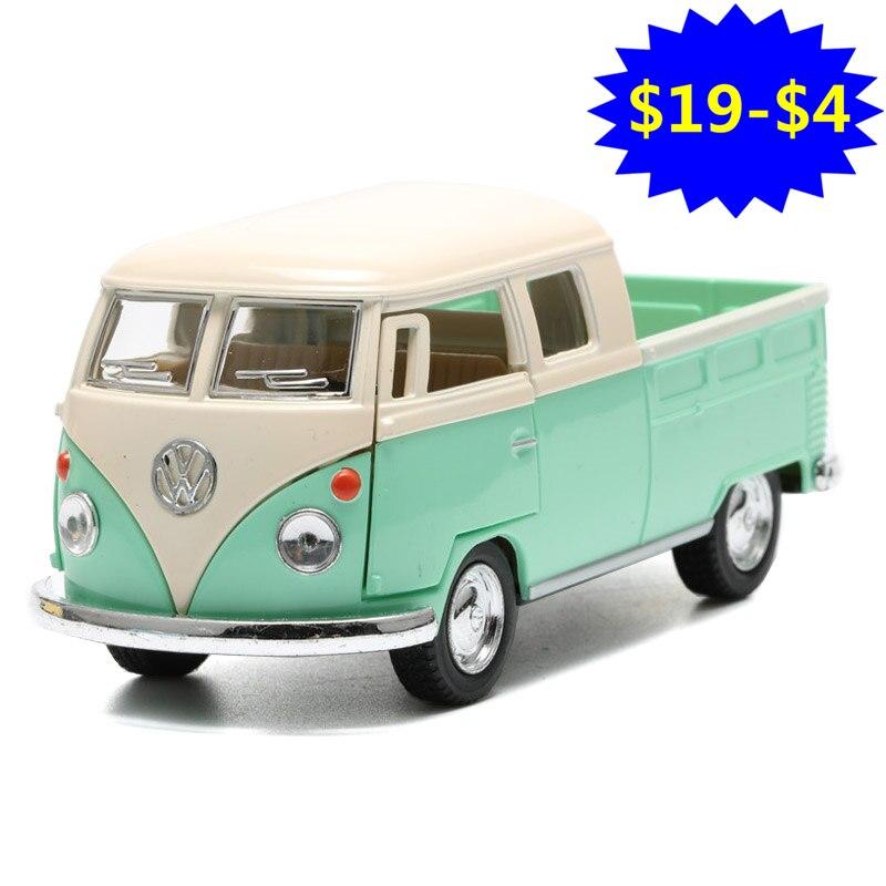 1:34 2018 Volkswagen Bus Camion Jouet moulé sous pression et ABS 1963 Modèle De Voiture De Bus Portes Ouvrable Voitures Modèles Pour Garçons Enfants Jouets Juguets