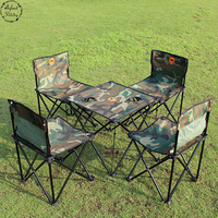Staygpld Outdoor Furniture Portable Folding Tables And Chairs Five Piece Camouflage Picnic Table Chair Fishing Bag