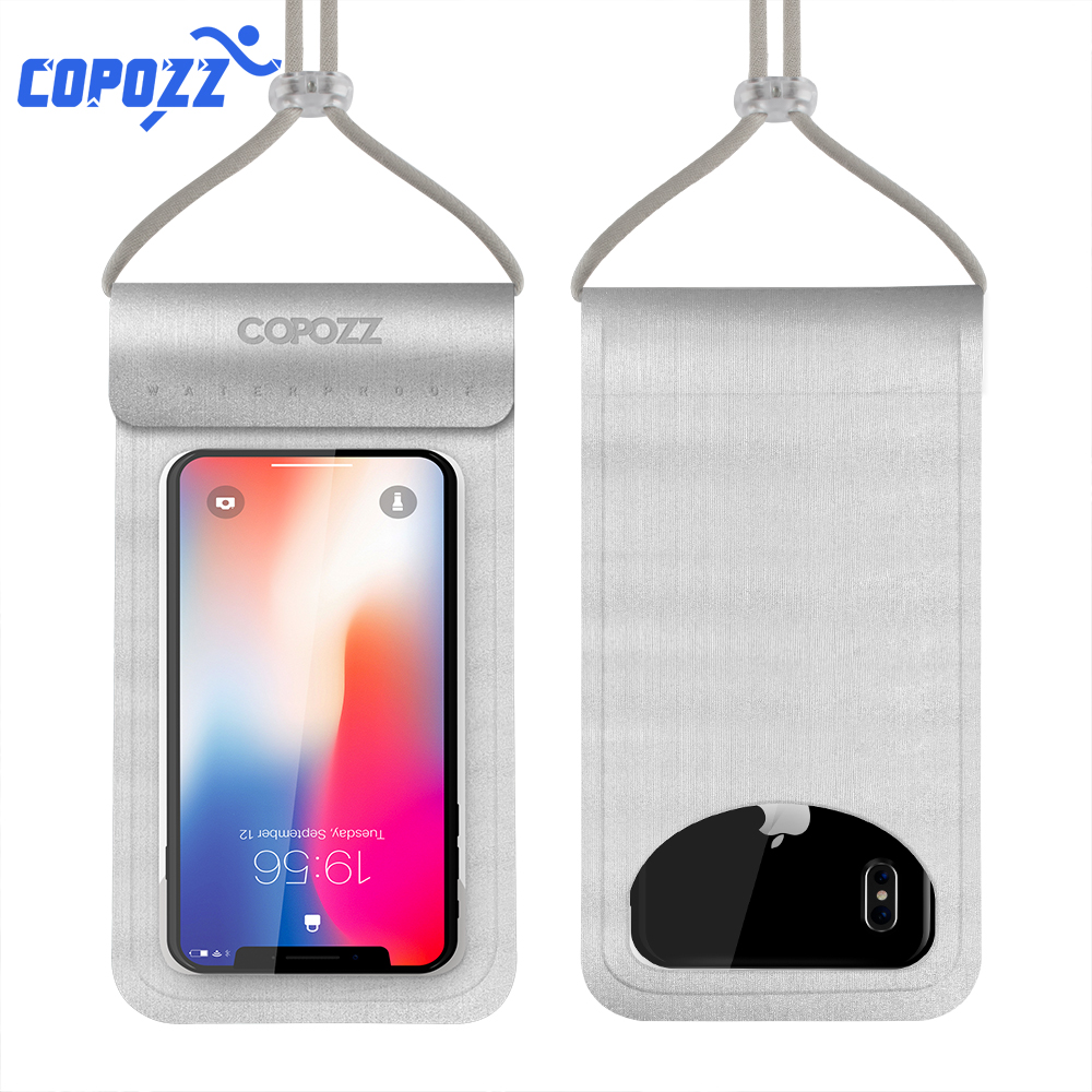 COPOZZ Waterproof Phone Pouch For IPhone X/8/7/6S Plus/Samsung S7 Swimming Snorkeling Skiing Diving Underwater Mobile Bags Case