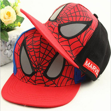 New Arrival Spiderman Children Cartoon Embroidery Cotton Baseball Cap Boys&Girls Snapback Caps Hip Hop Hats casquette gorras