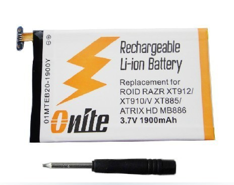 EB20 1900mAh Li-polymer Battery for DROID V XT885 / ATRIX HD MB886, compatible with DROID RAZR XT912 / XT910 Free Shipping