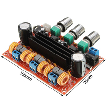 лучшая цена TPA3116 2.1 Channel Digital Amplifier Audio Board TPA3116D2 Subwoofer Speaker Amplifiers 2*50W+100W DC12-24V Amplificador DIY