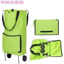 Women Fashion Multifunction Tugboat Luggage Trolley Box Wheels Duffle Bag Foldable Travel Bags Large Capacity Clothes Organizer
