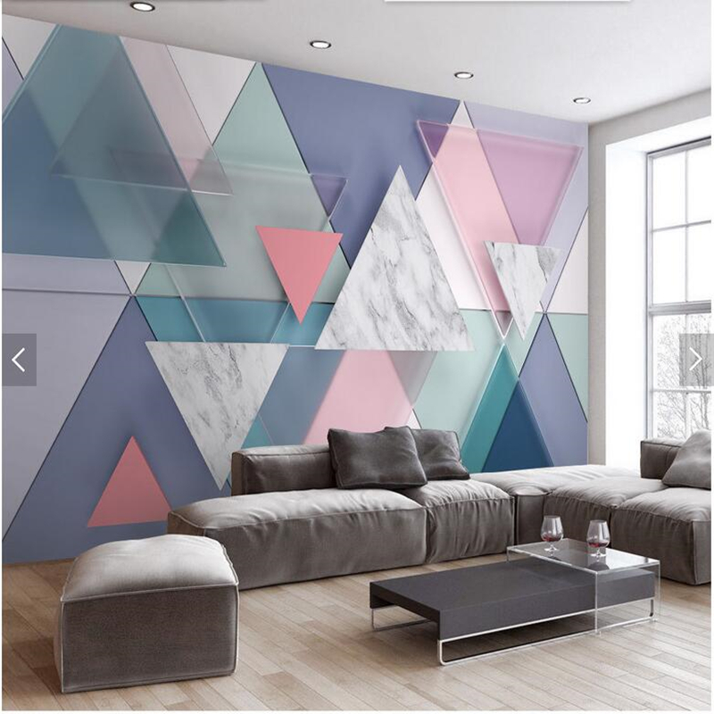 Custom 3d stereoscopic wallpaper, minimalist triangle murals for living room bedroom TV backdrop home decor wallpaper custom mural wallpaper european style 3d stereoscopic new york city bedroom living room tv backdrop photo wallpaper home decor