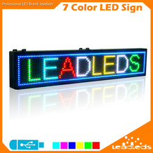 RGB Full Color LED Display Screen Lamp Programmable Led Sign Scrolling Message Advertising Board For Business Indoor Lighting
