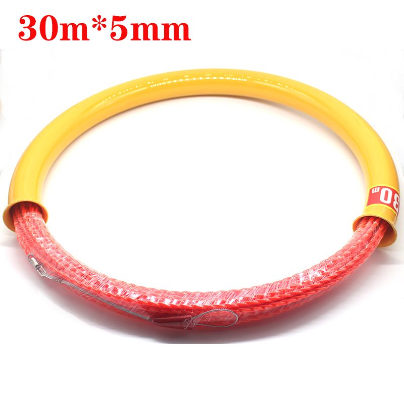 New 30Mx5mm Cable Push Puller High Quality Wire Puller Rodder Conduit Snake Fish Tape Tested 400KG Cable Laying Tools|Tool Parts| |  - title=