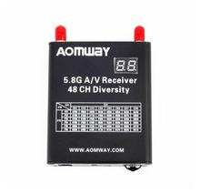 2017 New Aomway 5.8G 48CH AV Audio/Video Double Receiver DVR Recorder w/Cable for FPV Quadcopter Drone
