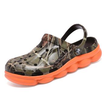 POLALI 2020 letnie męskie chodaki ogrodowe kapcie EVA dorywczo modne sandały na plażę dla mężczyzn męskie lekko pantofel Mule Clog tanie i dobre opinie PHERON Buty Wtrysku EVA NONE Moda Slip-on Mieszkanie (≤1cm) Pasuje prawda na wymiar weź swój normalny rozmiar Na co dzień