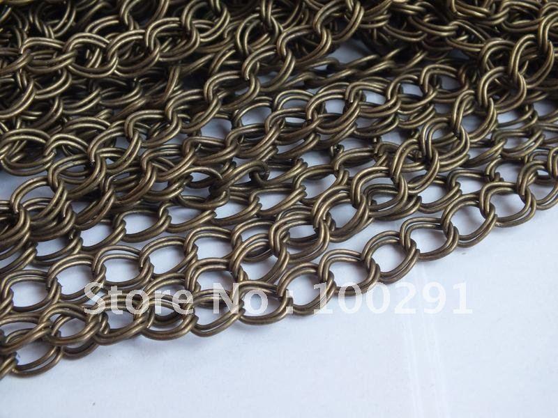 100 м/лот 7x8 мм Античная бронзовая цепь для ювелирных изделий ожерелье Никель бесплатно