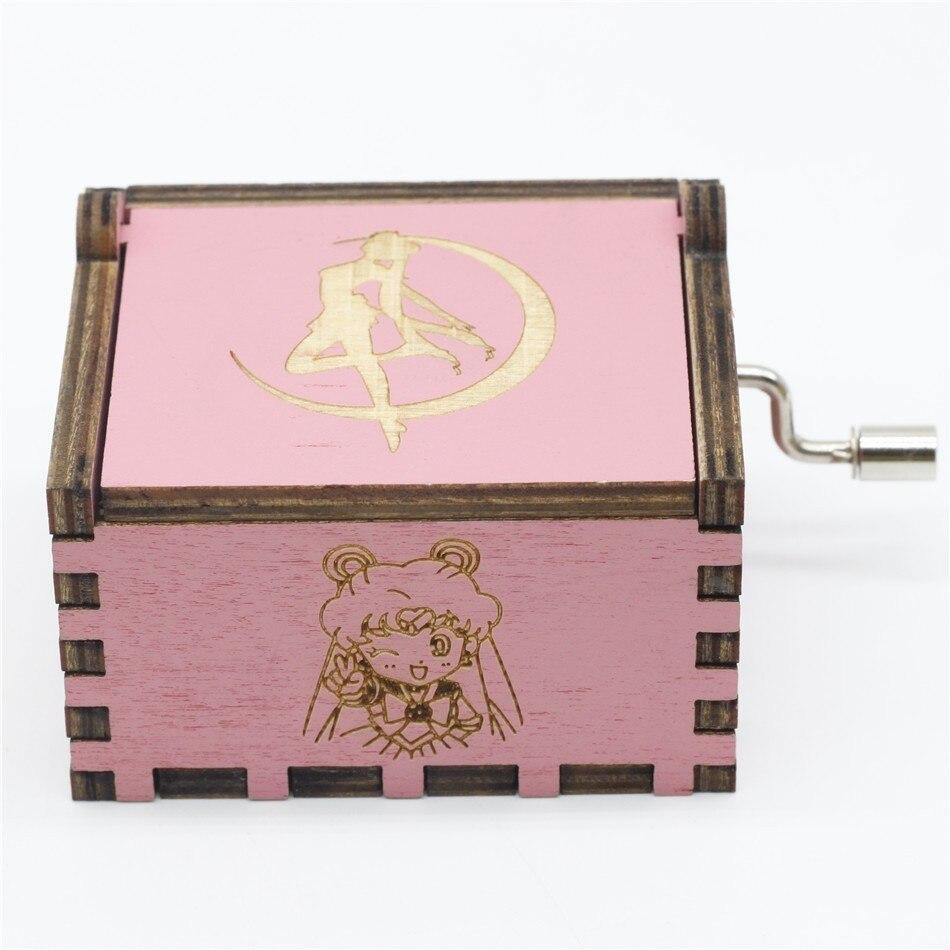 2018 nueva caja De música Rosa Sailor Moon Juego De tronos caja De música tema De música Caixa De música un regalo De cumpleaños 2019 SpongeBobinglys música piña casa Patricio Star edificio educación en bloques figuras juguetes niños regalos de cumpleaños