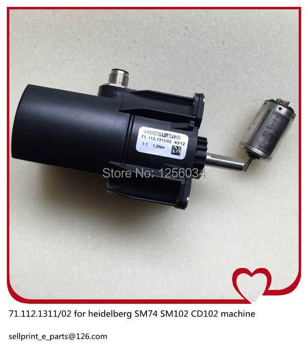 (total 2 pieces)1 piece motor for heidelberg SM74 71.112.1311/02 and 1 piece 71.112.1311/02 inside small motor