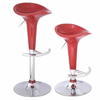 2 PC New 2016 Sale Modern Bombo Style Swivel Barstools Adjustable Counter Chair Bar Stools Sales