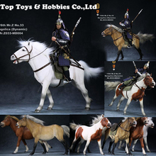For 12inches Action Figure RMZ033 1/6 Scale Ancient War Horse Mongolica Horse Dynamic Posture Animal Model With Accessories for collection 1 6 germany hannover hanoverian 002 horse model collection horse figure model for 12 action figure