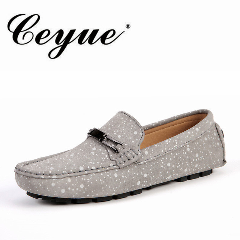 Ceyue New Fashion Breathable Men Loafers Casual Slip-On Boat Shoes For Men Polka Dot Flat Outdoor Walking Shoes Zapatillas Homme leopard print pattern protective plastic case w tail for samsung galaxy s4 i9500 black yellow