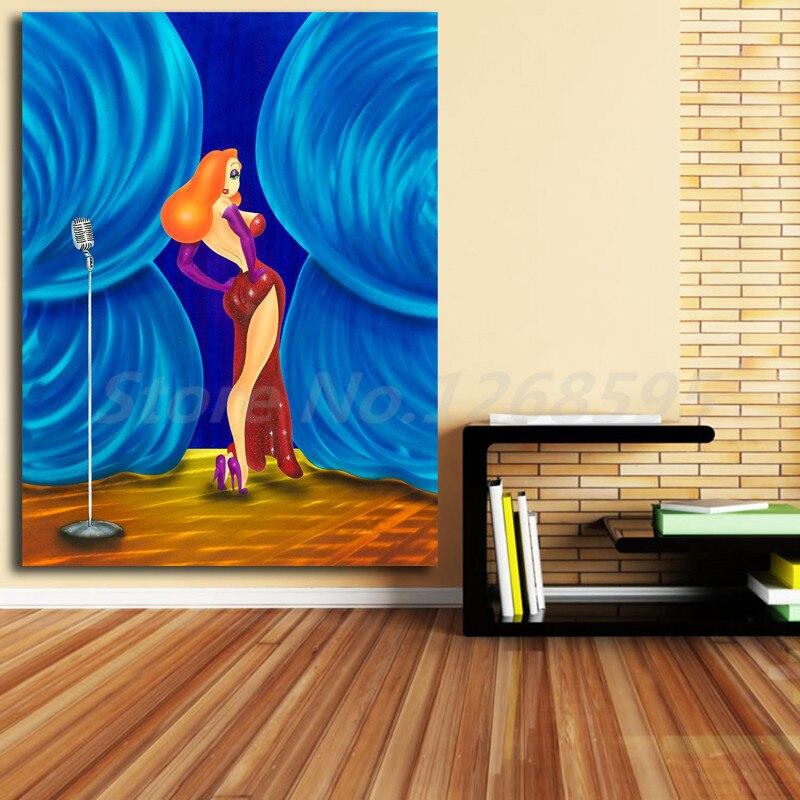 Art Print POSTER CANVAS Modern Art Wall Jessica Rabbit