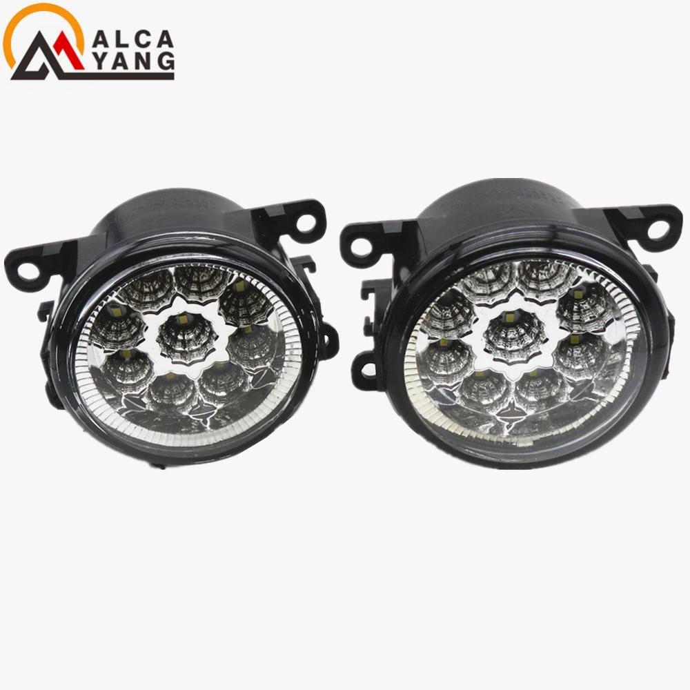 Malcayang Car LED DRL Daytime Running Lights fog lamps For NISSAN Navara D40 Pickup 2005-2015 Devil Eyes for nissan almera 2 ii hatchback saloon n16 2001 2006 fog lamps drl front lights led 261508990a 4419375 3000 10000k