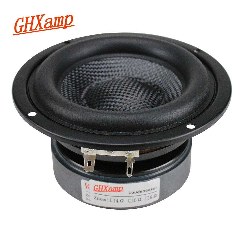 GHXAMP 4 Inch Woofer Subwoofer Speaker Unit HIFI 4ohm 40W Fiberglass Woven Basin Deep Bass Loudspeaekr Large Magnetic 1PC ghxamp 120mm 5 inch bass speaker unit 4ohm 30w 2 way diy woofer speaker subwoofer car home made loudspeaker 1pc