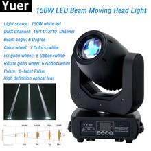 цена на 2018 stage light 150w beam moving head light High brightness led lamp 8 prism DMX512 zoom focus for dj disco 150w led spot light