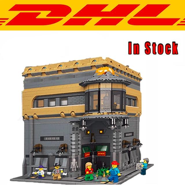 Nueva LEPIN 15015 5003 unids City Creator Calle El Museo de Dinosaurios Kits de Edificio Modelo Bloques Ladrillos Compatibles Juguetes Para Niños de Regalos