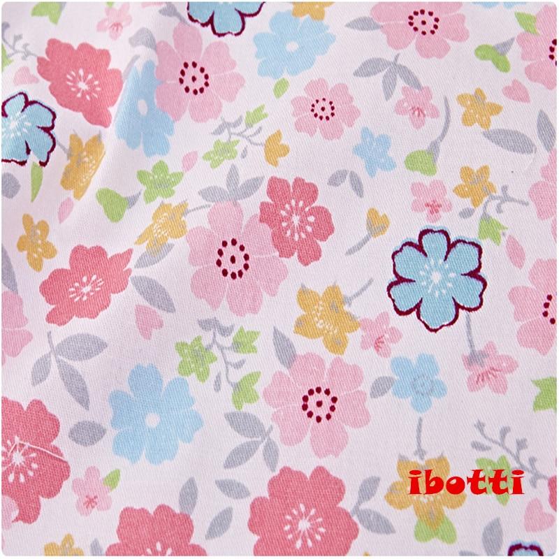 ibotti 4db / Lot 40 * 50cm Rózsaszín Virágos Plaid-sorozat 100% - Művészet, kézművesség és varrás - Fénykép 2