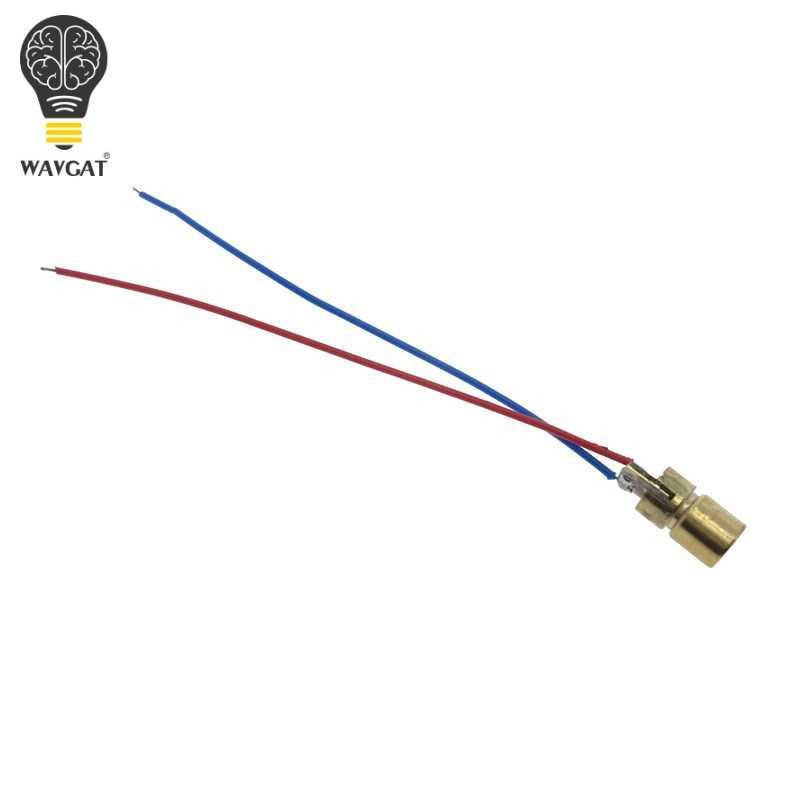 WAVGAT 5 V 650nm 5 mW Module de Diode Laser réglable vue rouge tête de cuivre Mini pointeur Laser