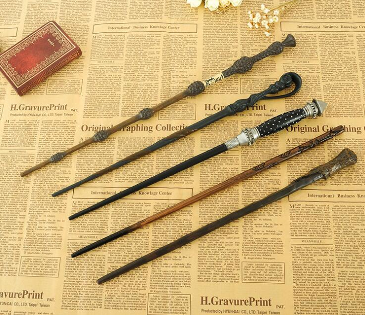 New Original Version Metal Core Deluxe COS Colsplay Core Albus Dumbledore Harry Potter Magic Magical Wand Gift Box Packing