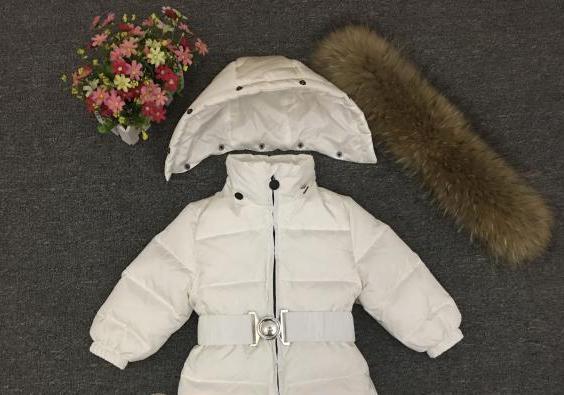 Russie hiver nouveau-né capuche pour bébé grand col en fourrure garçons chaud survêtement combinaison bébé vêtements Parka neige porter filles manteaux veste - 4