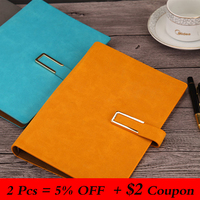 A5 Loose leaf Notebook Imitation Leather PU Business Stationery Notebook Conference Record Book Planner Portable