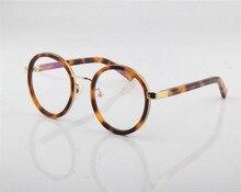 DOTE ME Moda Do Vintage Rodada Óculos de Acetato de Aro Completo Óculos de Miopia Leopardo Roxo Óculos de Leitura Óptica JT6119