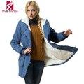 2016 Зимняя Куртка Женщины Старинные парки Плюс Размер 4XL Пальто Дамы Куртки Пальто NMY001