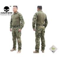 Taktischen EMERSON Gen2 Offizielle Taktische Ausbildung Uniform Kampf BDU Shirt & Hosen mit Schutz pads military camouflage uniform