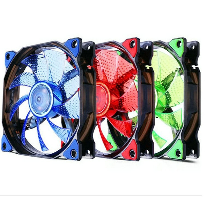 120mm Led Fan Pc Cooler Ultra Silent Heatsink Anti-Vibration CPU Cooling Computer Case Radiator Colorful Random Delivery