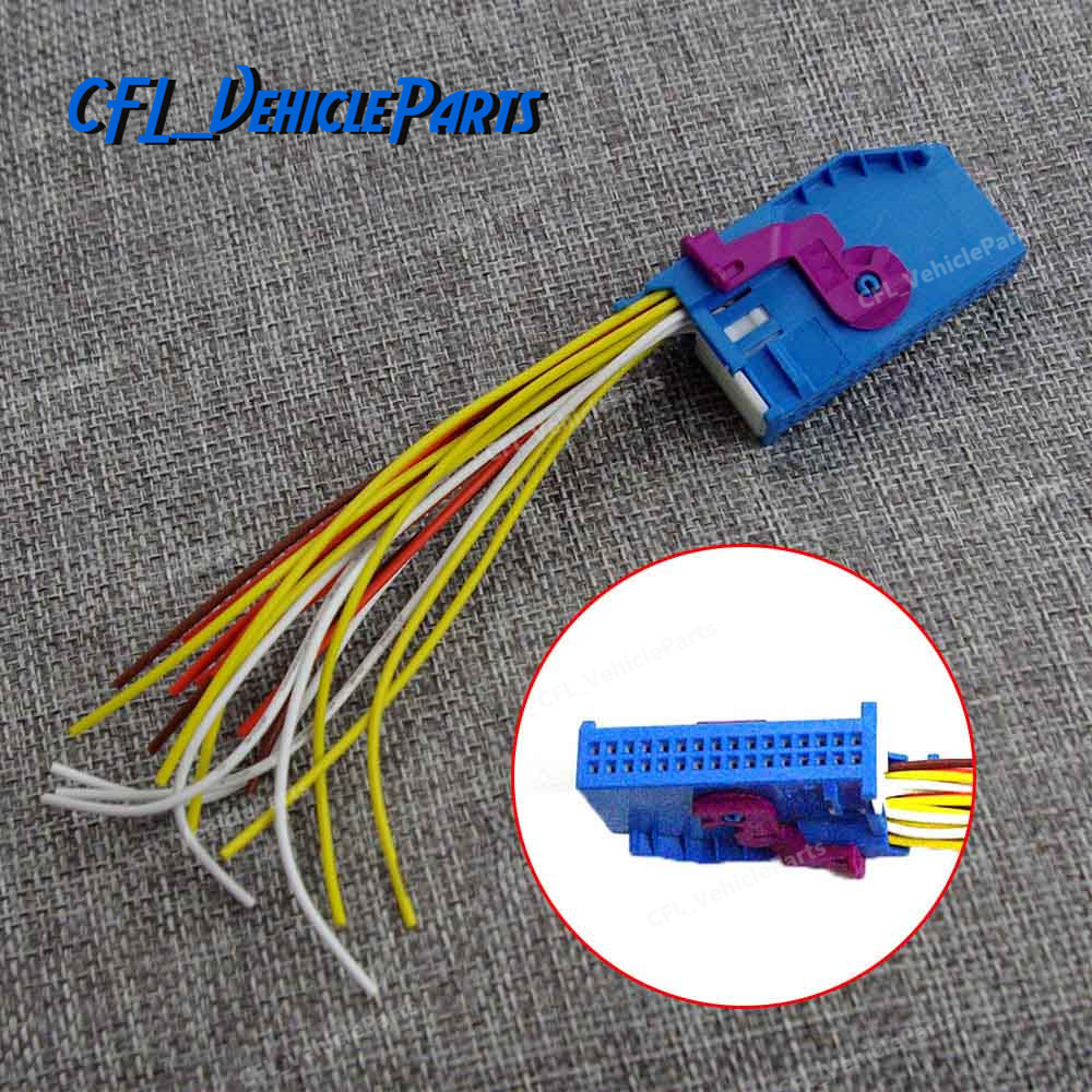 32 Pin Wire Harness Plug Adapter Socket Connector Blue 1j0972977 2014 Vw Jetta 1j0972977d For Audi A4 A6 Q5