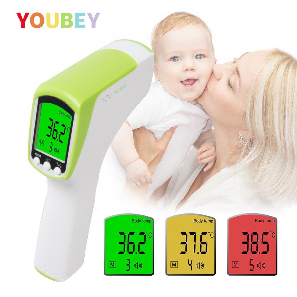 Youbey testa/orelha bebê termômetro sem contato digital infravermelho termometro criança/adulto muti-fuction corpo febre medida dispositivo