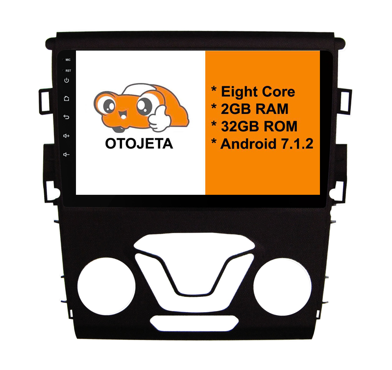 otojeta big screen hd car DVD player radio headunit tape recorder for FORD 2013 Mondeo android 7.1.2 multimedia stereo