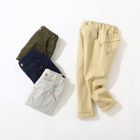 Boys Cotton Casual Pants spring and autumn new children's cotton soft and comfortable pants