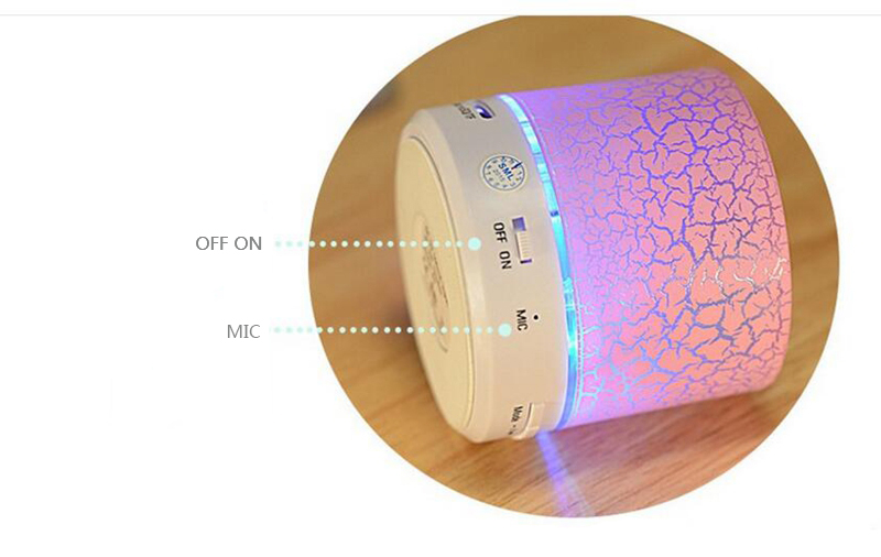 Ollivan A9 LED Bluetooth Speaker Mini Speakers Hands Free Portable Wireless Speaker With TF Card Mic USB Audio Music Player (13)