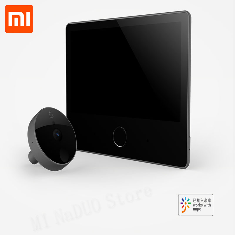 Xiaomi Luke Smart Door Video doorbell Cat Eye Youth Edition CatY Mijia App Control Rechargable IPS Display Wide Angle monitor image