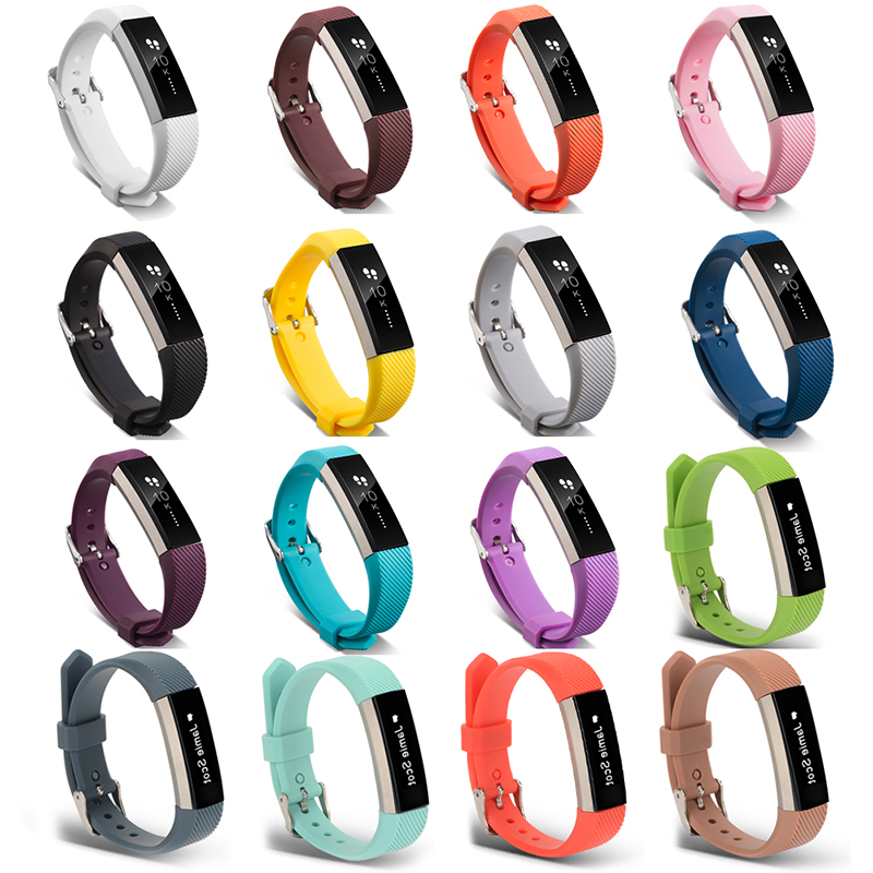 Replacement Silicone Watchbands Sports Watch Bracelet Strap Band Metal Buckle Belt Wristband For Fitbit Alta/ Fitbit Alta HR