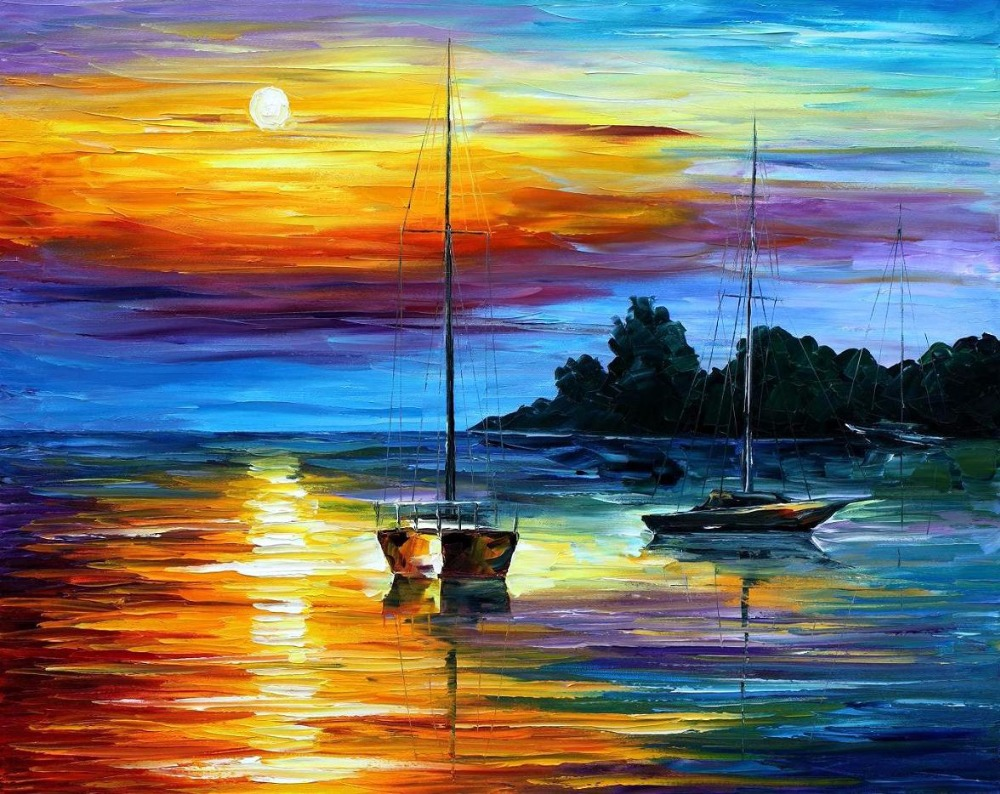Original watercolor art for sale - Painting For Sale Colorful Oil Paintings Canvas Florida Sunset Modern Wall Art Home Decor High Quality