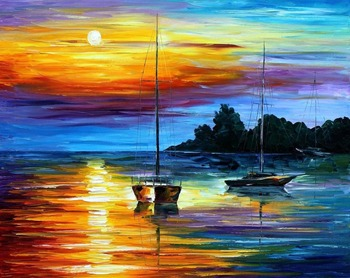 Painting for sale Colorful oil paintings Canvas florida sunset Modern Wall Art Home Decor High quality Handpainted