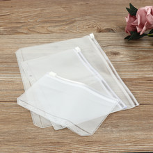 5PCS/Lot Plastic Storage Bag for Travel Make Up Baggage Bag Waterproof Bag for Cloth Pens Bag Zip Lock Storage Organizer Pouch(China)